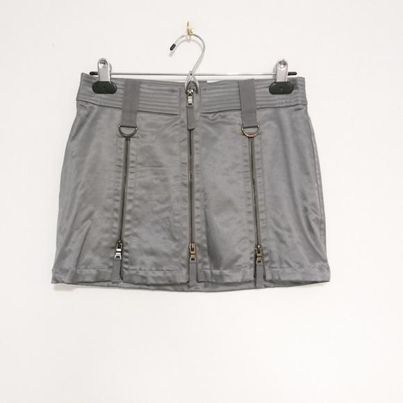 Guess Dresses & Skirts - Guess Silver Metallic Zip Up Sexy Skirt